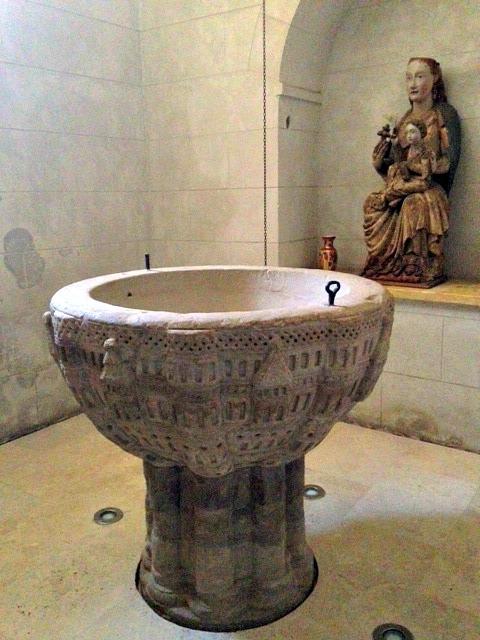 12th century baptismal font jerusalemscenes