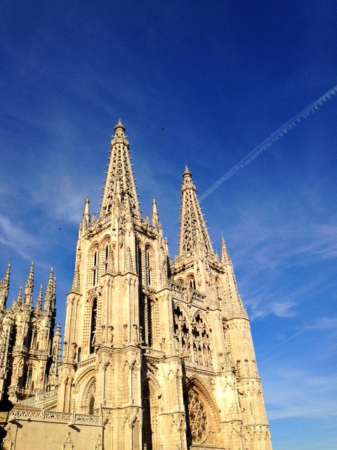 burgos cathedral evening light
